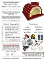 Brick Pizza Oven Plans by BrickWood Ovens - DIY Brick Ovens