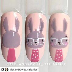 Nail Art Dessin, Nail Drawing, Romantic Nails, Animal Nail Art, Easter Nail Art, Cute Nail Art Designs, Nails For Kids, Nail Art Videos, Nail Decorations