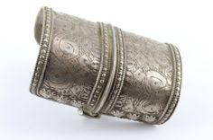 Solid Silver OLOMI Turkoman Afghanistan 132g Collectible Cuff | Savanna Caravan