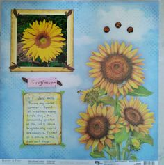 Sunflower Scrapbook Pages, Day, Cards, Style, Swag, Map, Playing Cards, Maps