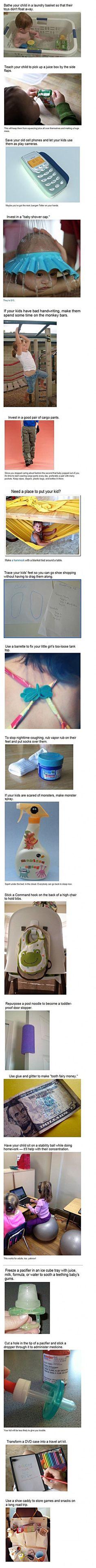 Parenting life hacks