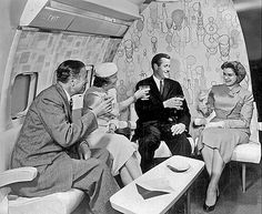 c. 1959 Boeing- 707_main-lounge by x-ray delta one, via Flickr