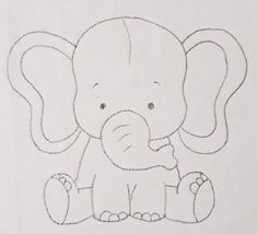 Latest Absolutely Free Cantinho art by Mari Strategies Cantinho Art by Mari, Quilt Baby, Baby Quilt Patterns, Applique Patterns, Felt Patterns, Baby Elephant Drawing, Elephant Quilt, Elephant Applique, Chalk Drawings, Easy Drawings