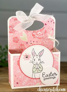 Wie macht man eine Ostern Box - Chic n Scratch Easter Candy, Easter Gift, Bunny Crafts, Easter Crafts, Box Bag, Arte Country, Wie Macht Man, Diy Ostern, Easter Projects