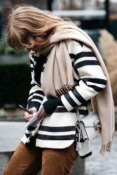 le-fashion-blog-streetstyle-striped-coat-suede-pants-mini-bag-Stockholm-fashion-week-via-Vogue