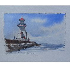 A Simple Pen and Wash using just 3 colours. Southampton Lighthouse  My Art for sale on Ebay:  http://www.ebay.ca/sch/sheelerart/m.html?_nkw=&_armrs=1&_ipg=&_from=  Latest video posted on YouTube. Link to my YouTube Channel is in my bio or click the following link.  https://m.youtube.com/c/petersheelerart  #Video #youtube #youtubers #landscape #art #original #watercolor #winsorandnewton #watercolour #painting #paintingaday #penandink #architecture #ink #moleskine_arts #canada #ImagesofCanada…