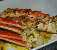 Delicious and easy to cook crab legs cooked in Flavor Wave Turbo Grill.-- crab legs are the best! Crab Dishes, Seafood Dishes, Seafood Recipes, Cooking Recipes, Seafood Platter, Bread Recipes, Shellfish Recipes, Bake Crab Legs Recipe, Snow Crab Legs Recipe Baked