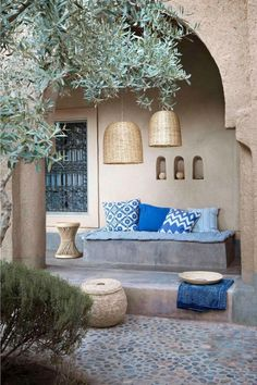 Bring the world into your home with 'couleur locale' - Belgian Pearls Patio Interior, Interior And Exterior, Outdoor Spaces, Outdoor Living, Outdoor Decor, Moroccan Decor, Home And Living, Exterior Design, Home Accessories
