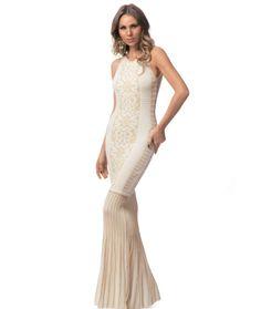 vestido longo white fabulous agilita - vestidos agilita fabulous