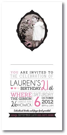 21st Invitation Design Lovingly Kate Faire Part Ideas