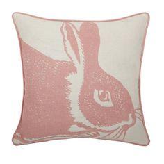 Pink rabbit pillow