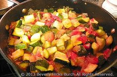 Zucchini and Tomatoes - Happy National Zucchini Day! Here's a great dish to use up some of the zucchini straight out of your garden.
