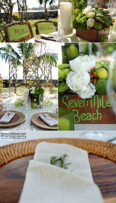 rustic beach chic island wedding - grand cayman