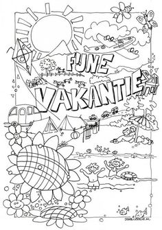 Young people PKN Beekbergen and Lieren - Young people PKN Beekbergen and Lieren - Colouring Pages, Adult Coloring Pages, Coloring Books, Summer Activities For Kids, Diy For Kids, Crafts For Kids, Summer Crafts, Summer Art, Aperol