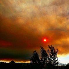 Fire in the sky @yourtake #fire #sky #smoke #northernutah