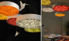 LuZiFer Semi-transparent Wood Pendant Lighting Pendant Lighting Wood Lamps