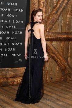 elegant jewel neck a line long navy evening dress