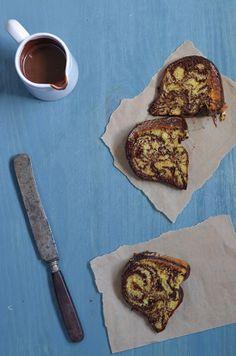 Chocolate and Vanilla Zebra Bundt Cake