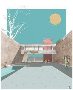 "9,800 curtidas, 66 comentários - Fer Neyra (@fer__neyra) no Instagram: ""#graficapucherona"" Artistic render render artístico #rendering #render #arquitetura #architecture #arquitectura #interiordesign #design #photography"