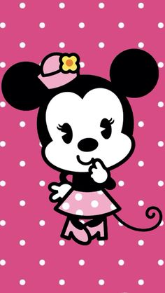 Find images and videos about cute, pink and wallpaper on We Heart It - the app to get lost in what you love. Mickey Mouse E Amigos, Mickey E Minnie Mouse, Minnie Mouse Images, Minnie Png, Mickey Mouse And Friends, Disney Mickey, Disney Art, Wallpaper Do Mickey Mouse, Cute Disney Wallpaper