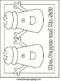 blues salt and pepper coloring pages