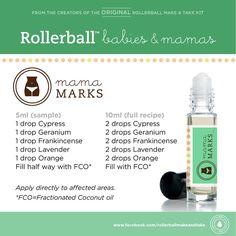 Mama Marks essential oil roller bottle blend
