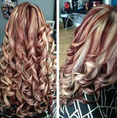 If you're looking for hair color combo like burgundy hair with blonde highlights for your hair, check out these 7 styles that our experts have shortlisted. Brown Hair With Blonde Highlights, Red To Blonde, Hair Color Highlights, Blonde Hair Red Lowlights, Burgundy Highlights, Burgundy Blonde Hair, Maroon Hair, Red Balayage, Brown Curls