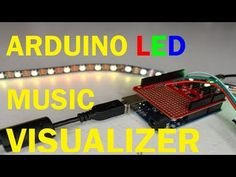 In this video, I will be showing you how to setup a music visualizer using an Arduino, a Sparkfun Spectrum Shield, and Individually Addressable LEDs. Led Projects, Electrical Projects, Electronics Projects, Arduino Led, Computer Diy, Music Visualization, Song Artists, Visual Effects, Montage