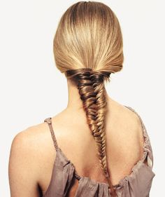 A five-minute fishtail braid