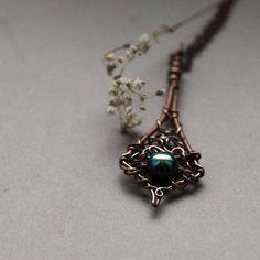 Elderberry Necklace Rainbow Hematite Necklace Bohemian