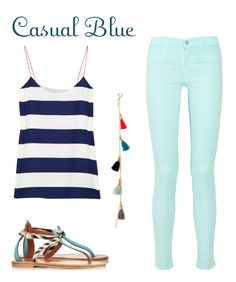 I love this with a navy summer cardigan over tank!