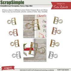ScrapSimple Embellishment Templates: Fancy Clips Mini