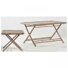 Stunning Bamboo Dining Table - perfect for indoors or outdoors. Made from durable, practical and eco friendly bamboo! $237 Stunning matching bamboo director chairs.