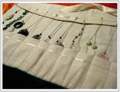 patterns for jewelry rolls | Dig Under Rocks: Arts & Crafty Business.. Travel Jewelry Roll