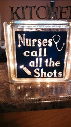Nurse glass blocks