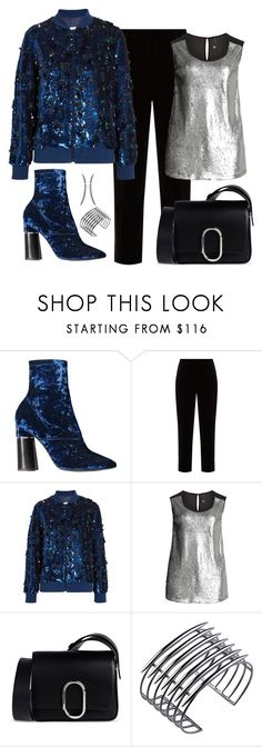 """3.1 Phillip Lim Kyoto Velvet Ankle Boot Look"" by romaboots-1 ❤ liked on Polyvore featuring Racil, Ashish, Manon Baptiste, 3.1 Phillip Lim and Shaun Leane"