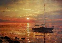 "Alexander Sarychev ~ ""Colors of Evening Sun"" ~ Oil on Canvas 2010"