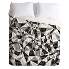 Gneural Triad Illusion Gray Duvet Cover | DENY Designs Home Accessories