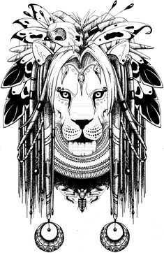 Shaman lion by quidames.deviantart.com on @deviantART