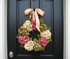 Spring Wreaths, Hydrangea Wreath, Spring Decorations, Online Wreath, Etsy Wreaths, Spring Hydrangeas, Spring Home Decor. $85.00, via Etsy.