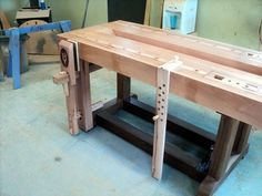 V8 Degree wedge powered workbench #7: Installing the Leg Vise and Finishing up. - by shipwright @ LumberJocks.com ~ woodworking community