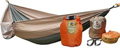 Koala Portable Camping Hammock Bed Bundle 400 lbs Max Weight 2Hanging Straps 2Carabiners Stuff Sack Dry Bag -- For more information, visit image link.