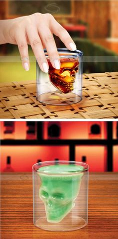 Small Creative Crystal Skull Transparent Glass Cup | Sammydress.com