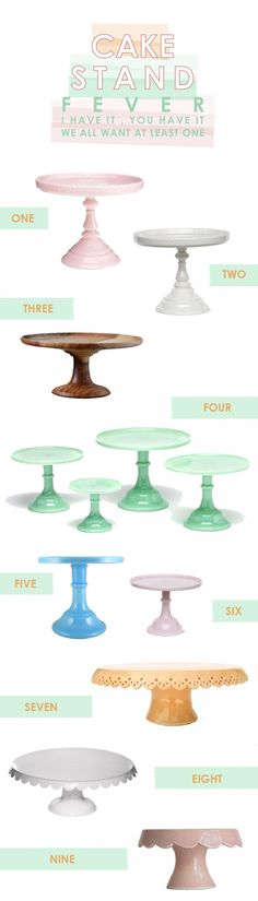 I want our cake to be on an awesome cake stand! Spray paint it to match wedding colors!