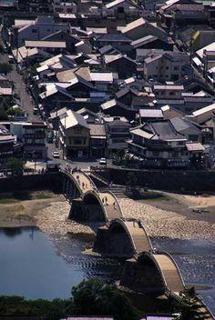 Kintai Bridge and Iwakuni Castle, Yamaguchi prefecture.
