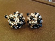 Earrings-Vintage Schreiner Costume Jewelry