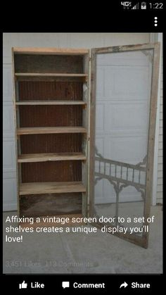 This is what I want to make using the antique door I bought-it has a window in it
