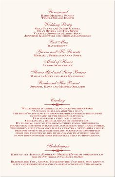 Best Printable Wedding Programs Images On Pinterest Free - Wedding ceremony brochure templates