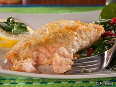 Potato-Crusted Salmon, dim the lights, turn on the soft music, and prepare to enjoy this yummy dish!   @Mr. Food Test Kitchen