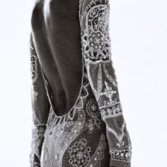 Lace beaded backless dress
